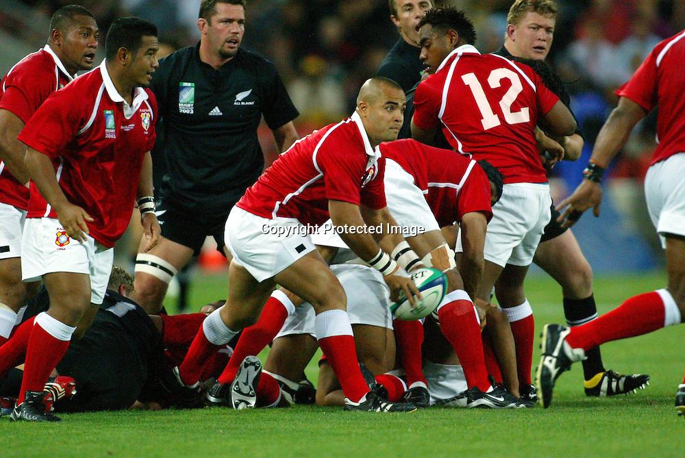24 October 2003, Suncorp Stadium, Brisbane, Australia. Rugby World Cup pool match D, All Blacks v Tonga<br />Sililo Martens-Tonga.<br />All Blacks won the match, 91 - 7.<br />Pic: Andrew Cornaga/Photosport