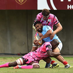 Eric Sione of Perpignan during Top 14 match between Perpignan and Stade Francais on August 25, 2018 in Perpignan, France. (Photo by Alexandre Dimou/Icon Sport)