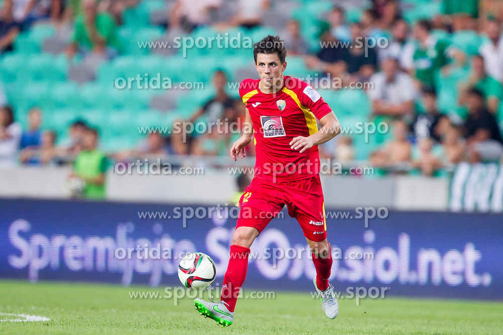 Stjepan Babic #12 of NK Rudar Velenje during football match between NK Olimpija Ljubljana and NK Rudar Velenje in 8th Round of Prva liga Telekom Slovenije 2015/16, on August 30, 2015 in SRC Stozice, Ljubljana, Slovenia. Photo by Urban Urbanc / Sportida
