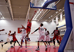 Greg Streete scores a two pointer - Photo mandatory by-line: Robbie Stephenson/JMP - 17/09/2016 - BASKETBALL - SGS Wise Arena - Bristol, England - Bristol Flyers v Worcester Wolves - Exhibition Game