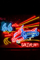 Neon Route 66 Sign, Gallup, New Mexico USA.