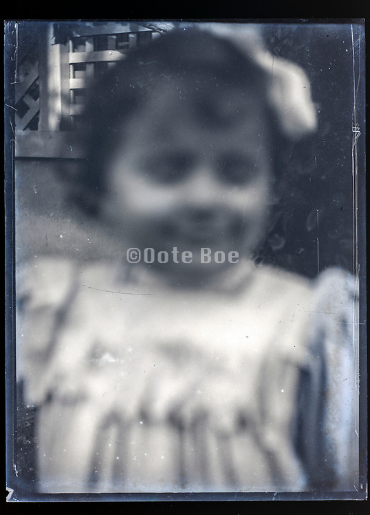 extreme out of focus portrait of a little child ca 1920s