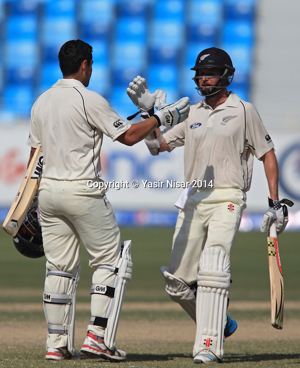 Pakistan vs New Zealand, 21 November 2014 <br /> Ross Taylor celebrates his century on the fifth day of second test in Dubai