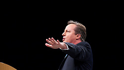 David Cameron Keynote Speech. <br /> Prime Minister David Cameron during his keynote speech to the Conservative Party Conference, Manchester, United Kingdom. Wednesday, 2nd October 2013. Picture by Elliott Franks / i-Images