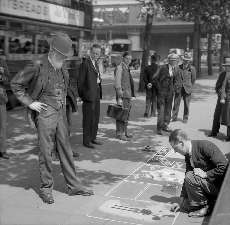 Pavement (Sidewalk) Artist, John Bentley, London, 1933
