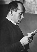 Edvard Beneš (1884 - 1948), leader of the Czechoslovak independence movement and the second President of Czechoslovakia
