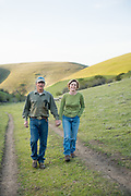 Robert and Cheryl Cosner of Upper Dry Creek Ranch in Weston, Oregon crossing the Heifer Creek