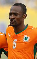 Photo: Steve Bond/Richard Lane Photography.<br />Ivory Coast v Mali. Africa Cup of Nations. 29/01/2008. Didier Zakora of Spurs and Ivory Coast line up