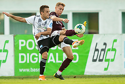 Tomi Horvat of Mura vs Žan Rogelj of Triglav during football match between NK Triglav and NS Mura in 5th Round of Prva liga Telekom Slovenije 2019/20, on August 10, 2019 in Sports park, Kranj, Slovenia. Photo by Vid Ponikvar / Sportida