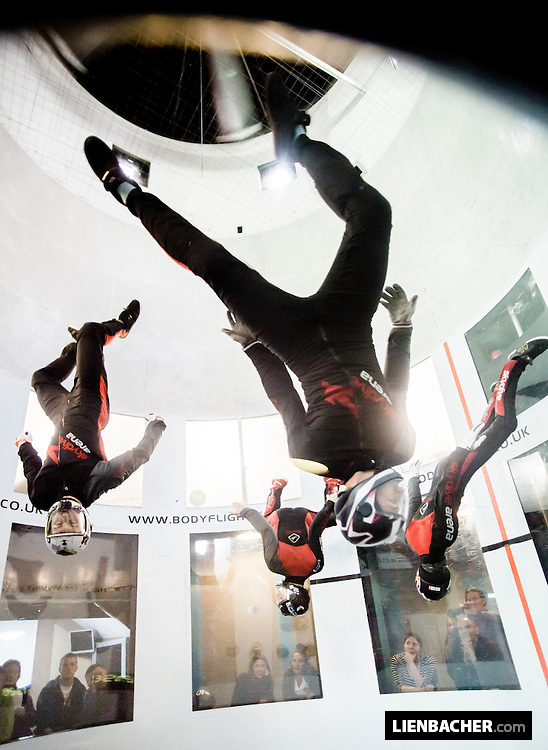 Team Superfly Prague performs during the Bodyflight Worldchallenge in Bedford
