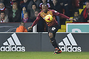 Kyel Reid of Bradford City  during the Sky Bet League 1 match between Sheffield Utd and Bradford City at Bramall Lane, Sheffield, England on 28 December 2015. Photo by Ian Lyall.