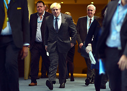 © Licensed to London News Pictures. 08/10/2012. Birmingham, UK Boris Johnson Lord Mayor of London walks to his meeting followed by the media ahead of his fringe meeting at The Conservative Party Conference at the ICC today 8th October 2012. Photo credit : Stephen Simpson/LNP