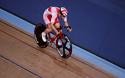Rhys Britton during the men's madison time trial  during Round One of the 2017/18 Revolution Series at Lee Valley Velo Park, London. PRESS ASSOCIATION Photo. Picture date: Saturday November 25, 2017. See PA story CYCLING London. Photo credit should read: John Walton/PA Wire.