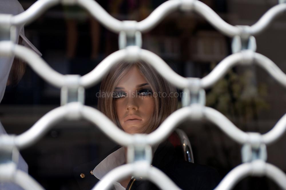 Mannequin in shop window, Amsterdam