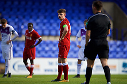 BIRKENHEAD, ENGLAND - Wednesday, November 1, 2017: Liverpool's captain Ben Woodburn prepares to take a penalty during the UEFA Youth League Group E match between Liverpool and NK Maribor at Prenton Park. (Pic by David Rawcliffe/Propaganda)