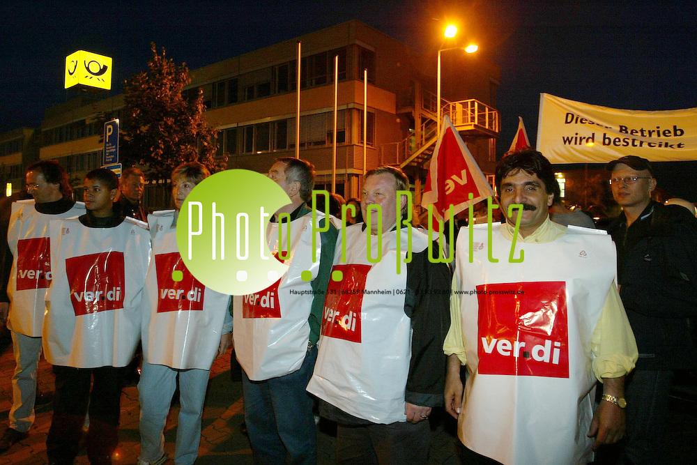Mannheim. Streik vor dem Briefzentrum in K&auml;fertal<br /> <br /> Bild: Pro&szlig;witz