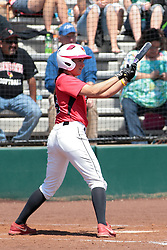 19 April 2014:  Stephanie Gallant during an NCAA women's softball game between the Evansville Purple Aces and the Illinois State Redbirds on Marian Kneer Field in Normal IL