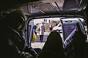 A view from inside a van, Teknival, Manchester, May 2008