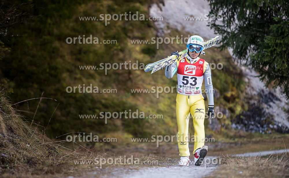 19.12.2014, Nordische Arena, Ramsau, AUT, FIS Nordische Kombination Weltcup, Skisprung, Training, im Bild Yoshito Watabe (JPN) // during Ski Jumping of FIS Nordic Combined World Cup, at the Nordic Arena in Ramsau, Austria on 2014/12/19. EXPA Pictures © 2014, EXPA/ JFK