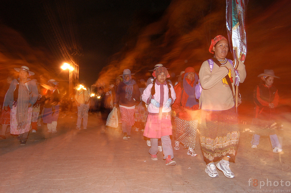 Every year thousands of men and women, walk from all the states of Mexico to La Villa, were is located the Virgin Guadalupe&acute;s image. The pilgrims walk about 50 kilometers everyday.<br />