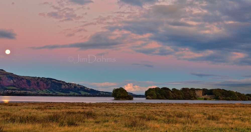 The island on Loch Leven near Kinross is where you will find the remains of Loch Leven Castle.
