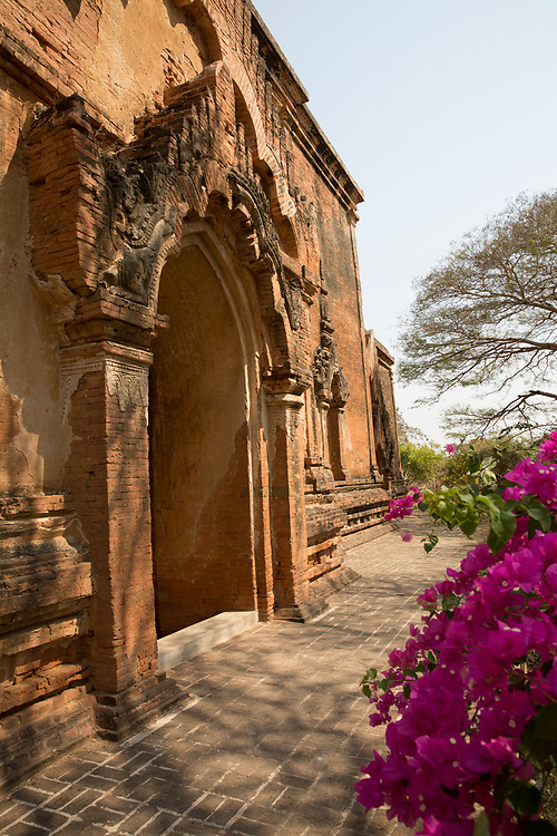 Door to an ancient pagoda in Bagan