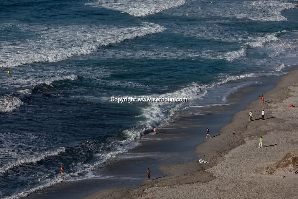 Corsica. France. Ostriconi Beach near calvi in Balagne, Corsica North, France / La plage de L ostriconi pres de Calvi , balagne, Corse du Nord