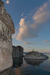 """Tahoe Boulders at Sunrise 12"" - These boulders were photographed at sunrise near Speedboat Beach, Lake Tahoe. Photographed from a kayak."