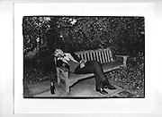 Member of the Bullingdon club asleep. Christchurch May Ball. Oxford 1983.