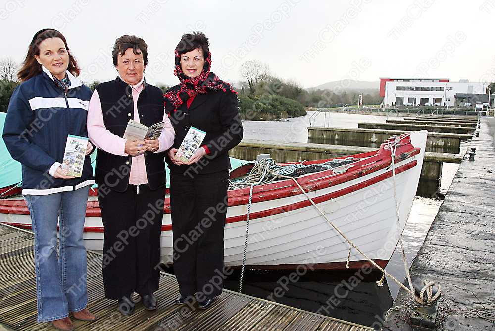 Vera O' Rourke, Teresa Browne and Josephine O' Brien getting ready to launch the East Clare Tourism Board brochure.<br />