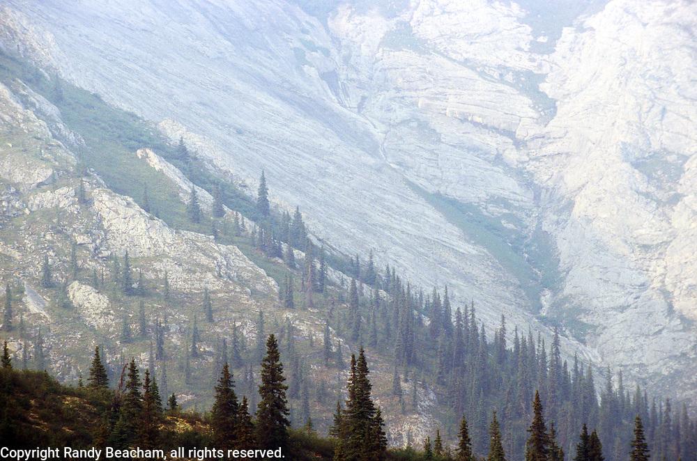 Brooks Range during fire season. North of Bettles, Alaska