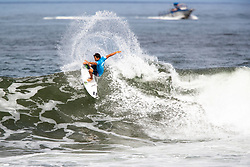 Seth Moniz of Hawaii advances to round 4 after placing first in round 3 heat 6 ​of the 2018 Hawaiian Pro at Haleiwa, Oahu, Hawaii, USA.