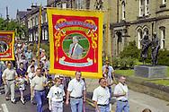 Wistow banner, Yorkshire Miners Gala Barnsley 16/6//96