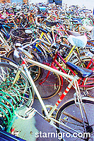 Bicycles outside of train station in Venice, Italy photograph by Star Nigro. A great example of green living.<br />