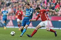 v.l. Michael Gregoritsch (HSV), Javi Martinez<br /> Muenchen, 25.02.2017, Fussball Bundesliga, FC Bayern München - Hamburger SV 8:0<br /> <br /> Norway only