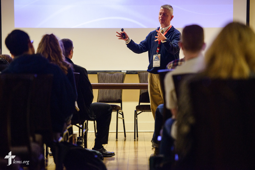 Scott Barefoot speaks during the Liberty National LCMS Campus Ministry Conference on Wednesday, Jan. 4, 2017, at the University of Maryland in College Park, Md. LCMS Communications/Erik M. Lunsford