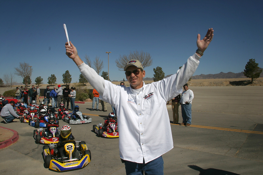 Gerald Stewart call himself the ?Master Jedi? .....Gerald sends out the young drivers to the race in Primm Nevada by shouting ?Let go Jedi?...Saturday march 3 .2007..