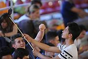DESCRIZIONE : Roma Lega A 2014-15 <br /> Acea Virtus Roma - Acqua Vitasnella Cantu<br /> GIOCATORE : <br /> CATEGORIA : pubblico tifosi curiosita <br /> SQUADRA : Acea Virtus Roma<br /> EVENTO : Campionato Lega A 2014-2015 <br /> GARA : Acea Virtus Roma - Acqua Vitasnella Cantu<br /> DATA : 10/05/2015<br /> SPORT : Pallacanestro <br /> AUTORE : Agenzia Ciamillo-Castoria/N. Dalla Mura<br /> Galleria : Lega Basket A 2014-2015  <br /> Fotonotizia : Roma Lega A 2014-15 Acea Virtus Roma - Acqua Vitasnella Cantu