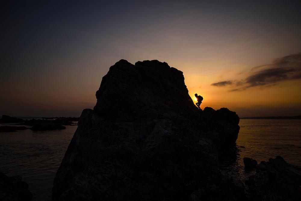 Coastal rocks at Morito Shrine, Hayama, Kanagawa Prefecture, Japan. Ben Weller/www.wellerpix.com