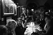 YASMIN GHANDEHARI PEDRO GIRAO, , Pedro Girao of Christies and Duncan Macintyre of Lombard Odier host the last dinner at the Old Annabels. 44 Berkeley Sq. London. 15 November 2018