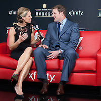 NFL Player Jason Witten being interviewed by NFL networks Alex Flanagan at the Mahalia Jackson Theatre NFL Honors in New Orleans, Louisiana on Feb.2 2013.