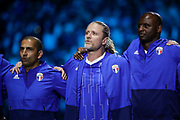 David Trezeguet (France 98), Emmanuel Petit (France 98), Patrick Vieira (France 98) during the 2018 Friendly Game football match between France 98 and FIFA 98 on June 12, 2018 at U Arena in Nanterre near Paris, France - Photo Stephane Allaman / ProSportsImages / DPPI