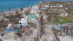 The damaged beachfront hotel Reposoir du Village in Port Salut, Haiti, on October 11, 2016. Photo by Patrick Farrell/Miami Herald/TNS/ABACAPRESS.COM