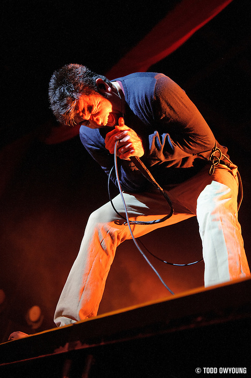 Photos of the band Deftones performing live at the Pageant in St. Louis on April 26, 2011.