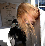 Sara Packer arrives for her arraignment Sunday January 8, 2017 in Newtown, Pennsylvania. She is accused of conspiring with her boyfriend Jacob Sullivan, to rape and kill her daughter Grace Packer, dismembering her body and dumping her remains in a wooded area of Northeastern Pennsylvania, some 100 miles from where Grace lived in Abington Township. (Photo by William Thomas Cain/Cain Images)