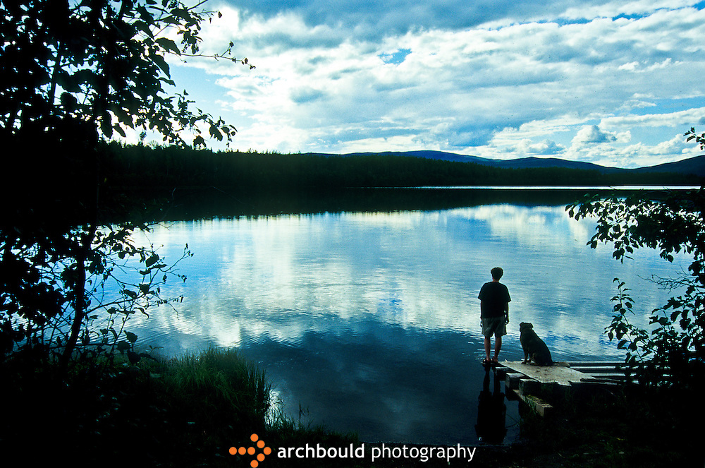 Yukon lake in summer.