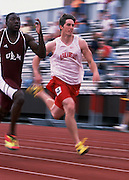 John D. McDonnell Invitational Track Meet in Fayetteville April, 2002<br /> ©Wesley Hitt/U of ArkansasUniversity of Arkansas Razorback Track and Field Team action photography during the 2001-2002 season.