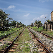 The coastal railway line linking Colombo with Galle, in the far south of the country