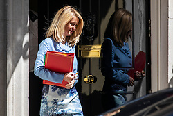 © Licensed to London News Pictures. 26/06/2018. London, UK. Secretary of State for Work and Pensions Esther McVey leaves 10 Downing Street after the Cabinet meeting. Photo credit: Rob Pinney/LNP