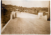 new road with bridge Japan ca 1930s